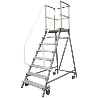 KRAUSE® Podesttreppe, 1-seitig, verfahrbar, Standhöhe 1,90 m