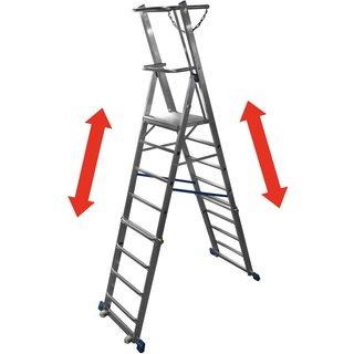 KRAUSE® Teleskop-Plattformleiter, 8-10 Sprossen