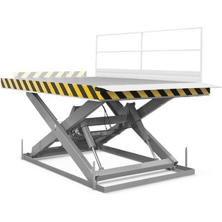 ERGO-LIFT Verlade-Hubtisch für Deichselstapler, TK 2.000, Plattform à 2.500 x 2.000 mm