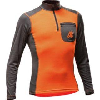 Funktions Langarmshirt AX MEN orange grau
