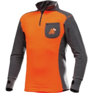Funktions Langarmshirt AX-MEN ISO orange grau