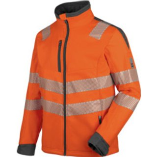 Warnschutz Softshelljacke Neon EN 20471 3 orange anthrazit