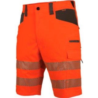 Warnschutz Arbeitsshorts Neon EN 20471 1 orange anthrazit