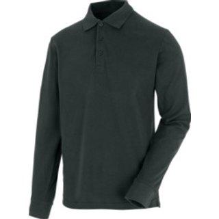 Langarm Poloshirt Job+ anthrazit