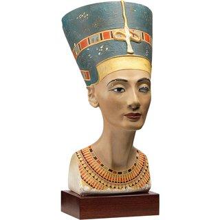 Büste der Königin Nofretete (Originalgröße), Kunstguss handbemalt