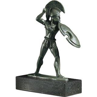 Skulptur 'Attischer Speerkämpfer', Metallguss