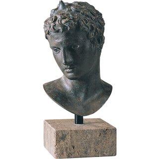 Praxiteles: Kopf des Epheben von Marathon, Kunstbronze, Skulptur