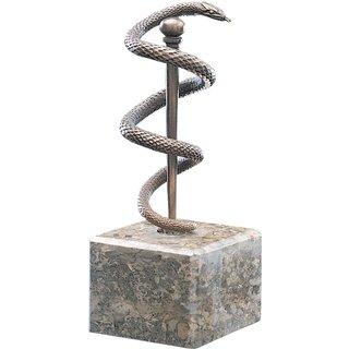 Skulptur 'Äskulapnatter', Bronze