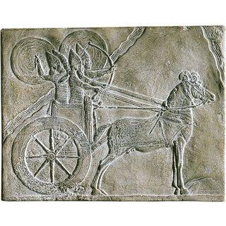 Streitwagen mit Kriegern aus Ninive