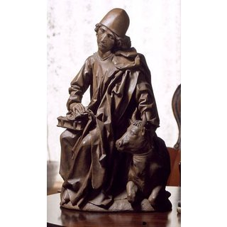 Tilman Riemenschneider: Skulptur 'Evangelist Lukas', Kunstguss