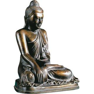 Skulptur 'Gautama Buddha', Kunstbronze
