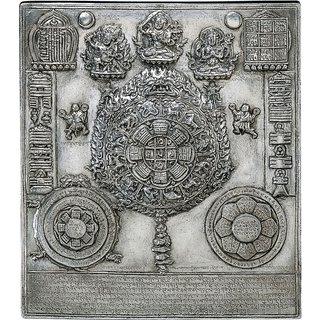 Replikat 'Tibetischer Kalender', Kupfer versilbert