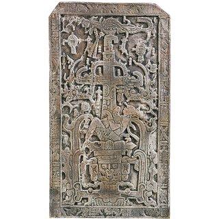 Replikat 'Platte von Palenque' (Reduktion), Kunstguss