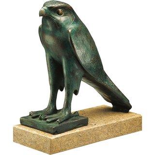 Skulptur 'Horus-Falke', Version in Bronze