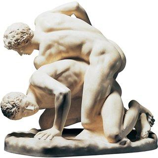 Skulptur 'Kämpfende Athleten', Reduktion in Kunstguss