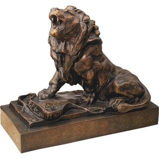 Auguste Rodin: Skulptur 'Der weinende Löwe' (Le lion qui pleure), Version in Bronze
