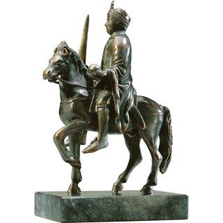Reiterstatuette 'Karl der Große', Version in Metallguss
