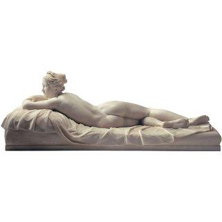 Johann Gottfried Schadow: Skulptur 'Das ruhende Mädchen' (1826), Kunstmarmor