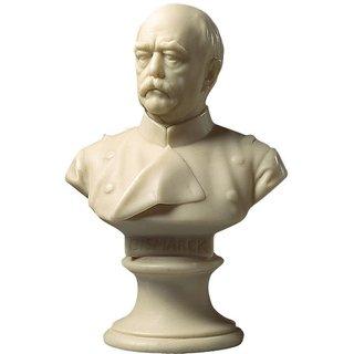 Hans Hellmich: Porträtbüste 'Otto von Bismarck' (1897), Kunstmarmor, Skulptur