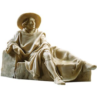 Skulptur 'Goethe in der Campagna', Version in Kunstmarmor