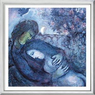 Marc Chagall: Bild 'Traum der Liebenden' (1962), gerahmt
