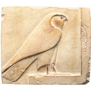 Ägyptisches Sandstein-Relief 'Horus-Falke'