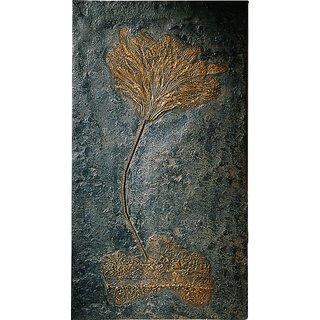 Fossile Seelilien auf Treibholz