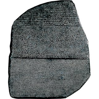Schrifttafel 'Der Stein von Rosette'