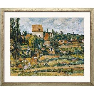 Paul Cézanne: Bild 'Die Mühle an der Couleuvre bei Pontoise' (1881), gerahmt