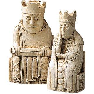 Schachfiguren 'König + Königin', Skulptur