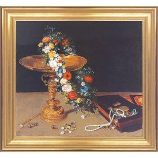 Jan Brueghel d. Ä.: Bild 'Stillleben mit Blumengirlande', gerahmt
