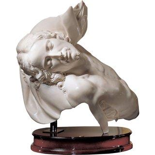 Ado Santini: 'Die Büste Jesu', Kunstmarmor auf Holz