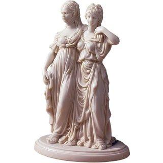 Johann Gottfried Schadow: Skulptur 'Luise und Friederike', Reduktion in Kunstmarmor