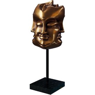Ma Tse Lin: 'Tête de Bouddha - Kopf des Buddha' in Bronze