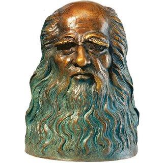 Leonardo da Vinci: 'Büste', Version in Bronze