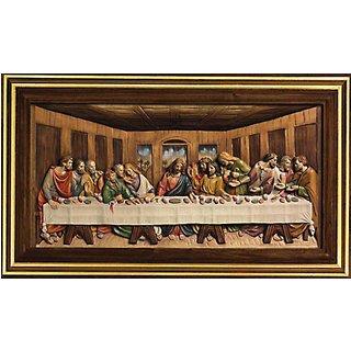 Leonardo da Vinci: Bild 'Das letzte Abendmahl' (1495-1498), gerahmt
