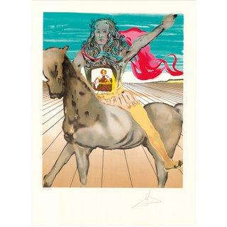 Salvador Dalí: Bild 'Chevalier surréaliste (Hommage à Velàsquez)', ungerahmt