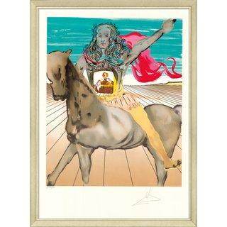 Salvador Dalí: Bild 'Chevalier surréaliste (Hommage à Velàsquez)', gerahmt