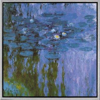 Claude Monet: Bild 'Seerosen II' (Nymphéas 1916-19), gerahmt