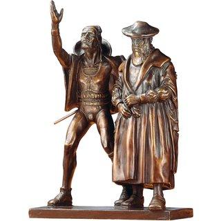 Mathieu Molitor: Skulpturengruppe 'Faust und Mephisto', Reduktion in Bronze