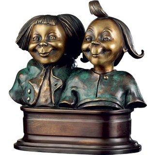 Wilhelm Busch: Skulptur 'Max und Moritz', Version in Kunstbronze