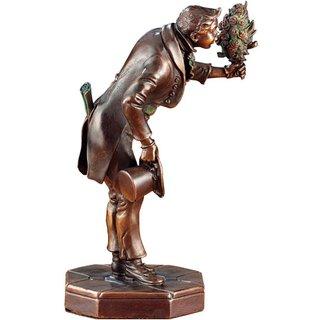 Carl Spitzweg: Skulptur 'Der Ewige Hochzeiter', Version in Metallguss