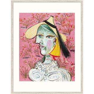 Pablo Picasso: Bild 'Marie-Thérèse mit Strohhut', gerahmt