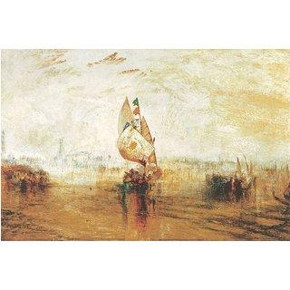 William Turner: Bild 'Die Sonne von Venedig' (1843), auf Keilrahmen