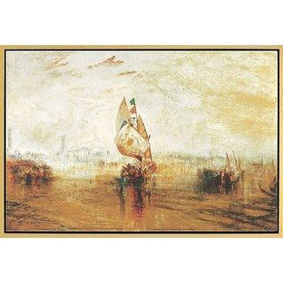 William Turner: Bild 'Die Sonne von Venedig' (1843), gerahmt