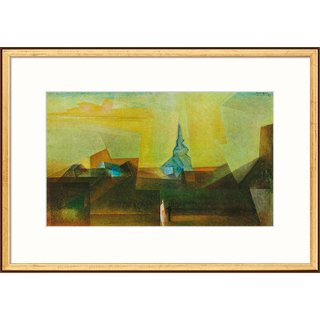 Lyonel Feininger: Bild 'Nermsdorf (I)' (1925), gerahmt