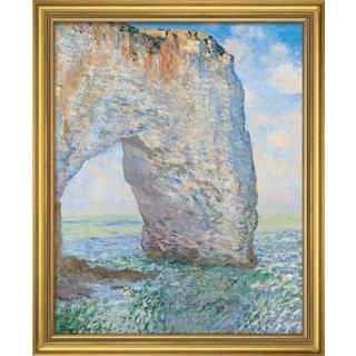 Claude Monet: Bild 'Das Manneporte bei Étretat' (1886), gerahmt