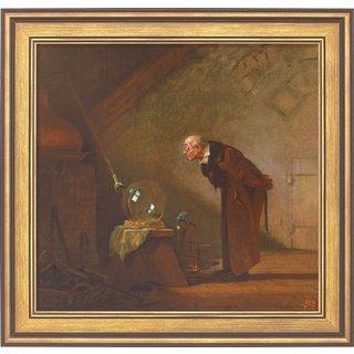 Carl Spitzweg: Bild 'Der Alchimist' (1860), gerahmt