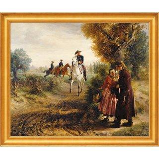 Adolph von Menzel: Bild 'Die Bittschrift (Der Spazierritt)' (1849), gerahmt