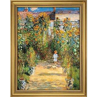 Claude Monet: Bild 'Le Jardin de Monet à Vétheuil' (1881), gerahmt
